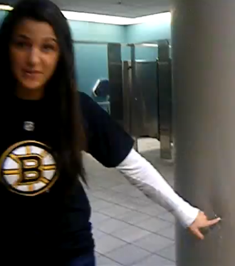 Illustration for article titled Bruins Bathroom Kicker Brought To Bruins Bathroom Justice