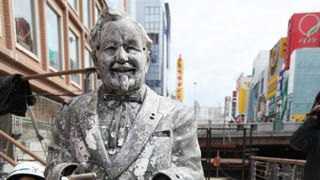 Illustration for article titled Can Japanese Colonel Sanders Statue End The Cubs' Curse?