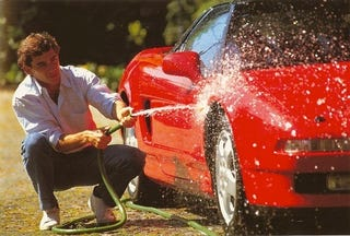 Illustration for article titled Ayrton Washes His NSX