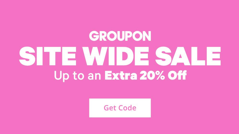 Illustration for article titled Groupon Sitewide Sale: Up to 20% Off Local, 10% Off Getaways, 10% Off Goods