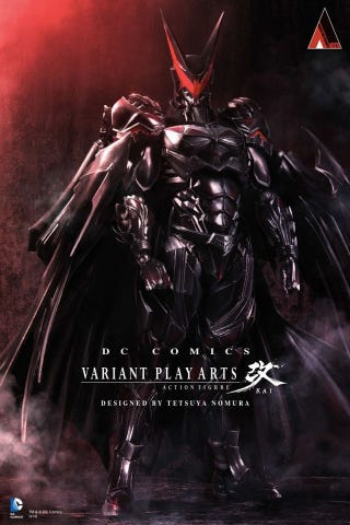 Illustration for article titled This Final Fantasy-Style, Redesigned Action Figure Of Batman Is Madness