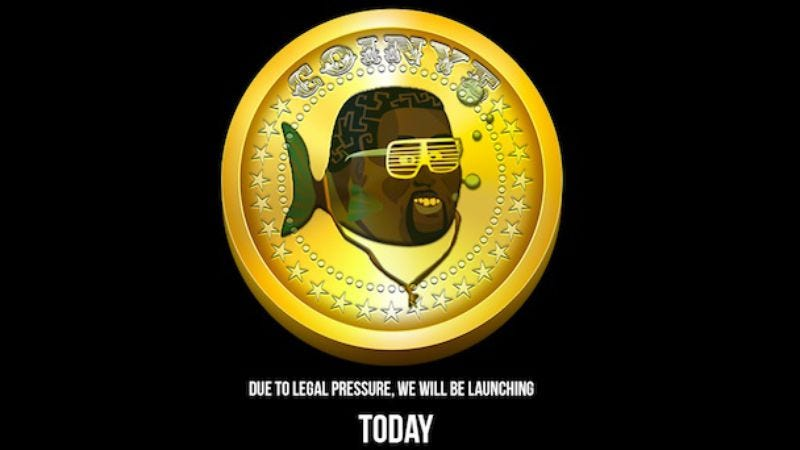 """Illustration for article titled Unsurprisingly, Kanye West isn't a big fan of new """"Coinye West"""" digital currency"""