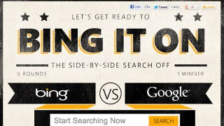 """Illustration for article titled """"Bing It On"""" Shows You When Bing Is Most Useful"""