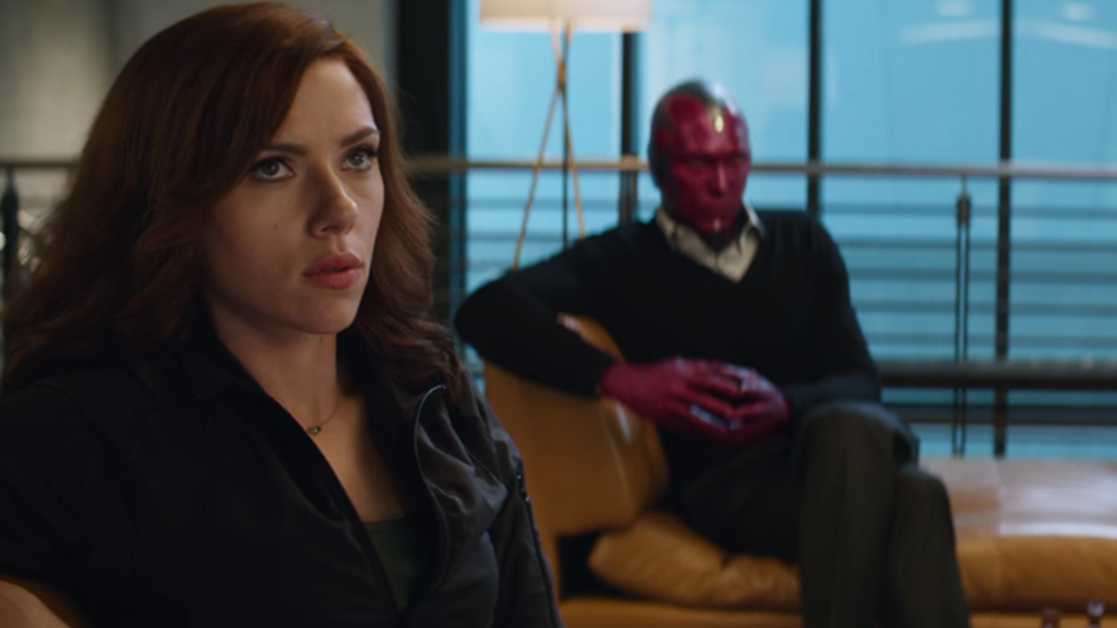 I Can't Get Over the Vision's Sweater in These Captain America: Civil War Clips