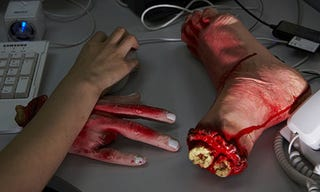 Illustration for article titled Bloody Stump Wrist Rests