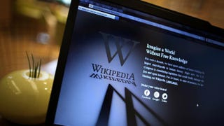A laptop computer displays Wikipedia's front page.Peter Macdiarmid/Getty Images