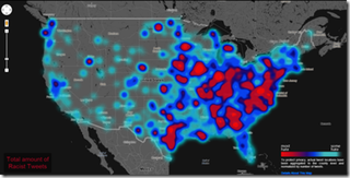map shows the most racist areas in the country based on racist tweets.Courtesy of Floating Sheep