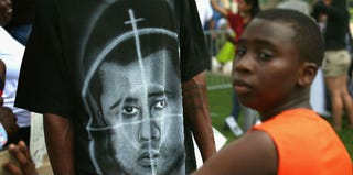 A demonstration surrounding George Zimmerman's trial (Getty Images)