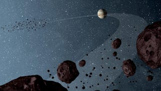 Illustration for article titled NASA sheds some light on Jupiter's mysterious companion asteroids