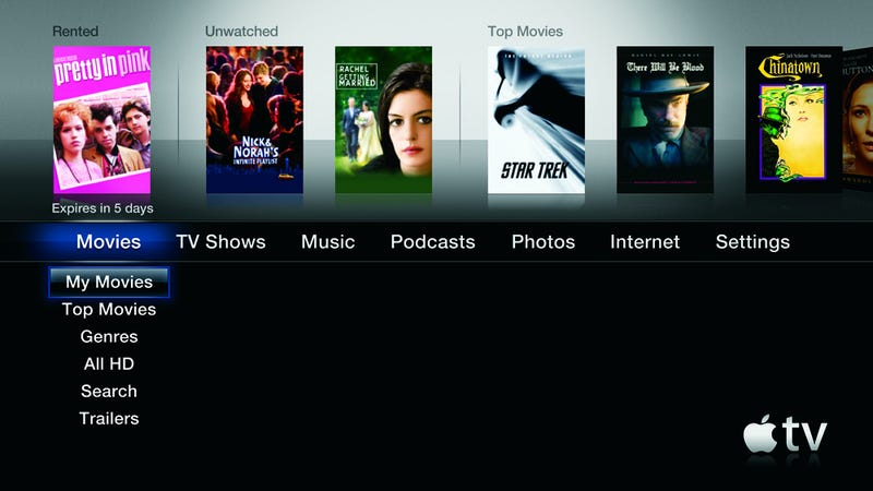 Apple TV 3 0 Software Is Out, New Interface Looks Fugly