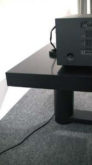 hack an ikea lack table into a hifi rack. Black Bedroom Furniture Sets. Home Design Ideas