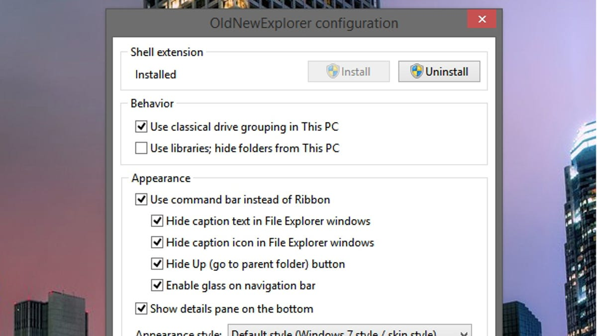 OldNewExplorer Customizes Windows Explorer to Be More Like