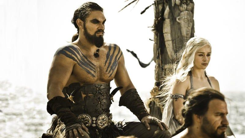 Drogo y Daenerys durante su boda.