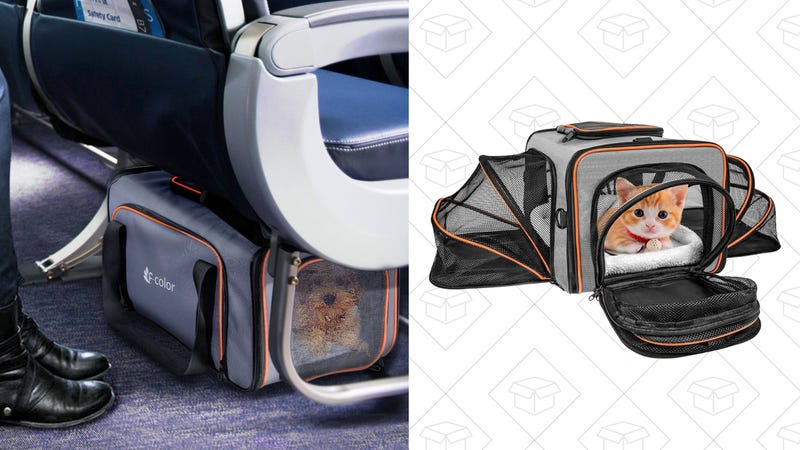 Pet Carrier Expandable Airline Travel Carrier | $33 | Amazon | Promo code 5HIY9YH5