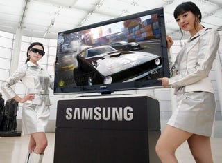 Illustration for article titled Put on Your 3D Glasses for Samsung's 3D-Ready Plasma TV