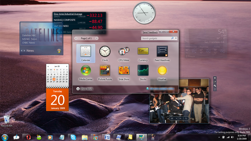 microsoft gadgets windows 7