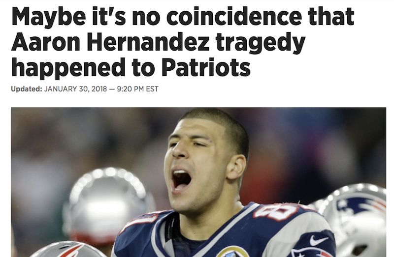Illustration for article titled Philly Columnist Puts Out Some Incomprehensible Shit About Aaron Hernandez And The Patriots