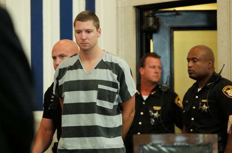 Former University of Cincinnati Police Officer Ray Tensing enters Hamilton County (Ohio) Common Pleas Court to be arraigned on murder charges July 30, 2014, in Cincinnati.Mark Lyons/Getty Images