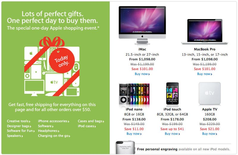 Illustration for article titled Apple's Black Friday Sale?
