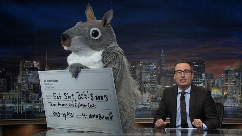Illustration for article titled John Oliver sees a coal company's cease-and-desist letter and raises them these nuts