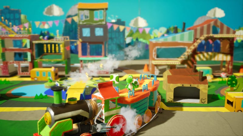 Illustration for article titled The Best Part Of Yoshi's Crafted World Is The Scenery