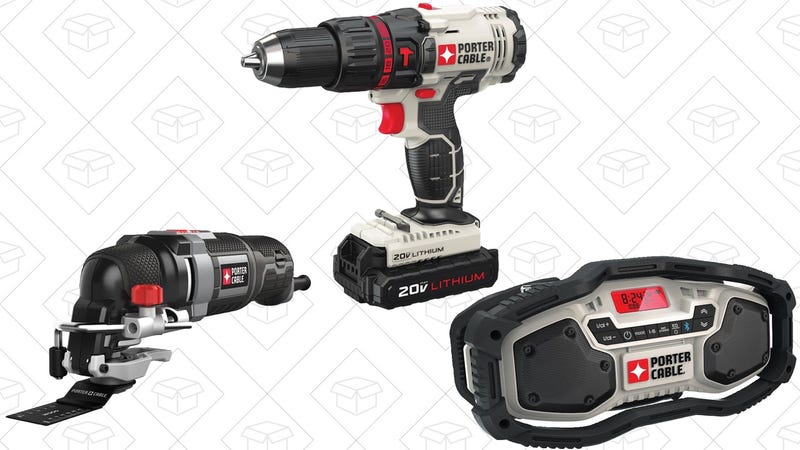 Porter Cable 20V Hammer Drill | $80 | AmazonPorter Cable Oscillating Multitool | $75 | AmazonPorter Cable Bluetooth Radio | $59 | Amazon