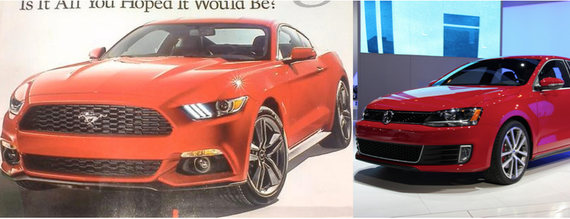 Illustration for article titled OMG The new Mustang looks SO much like a Jetta…