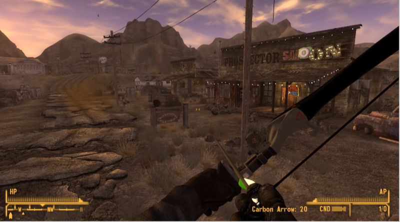 Illustration for article titled Player Has Spent A Year Modding Perfect Bow and Arrow Into Fallout: New Vegas