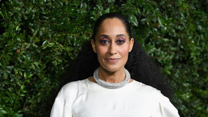 Tracee Ellis Ross, wearing CHANEL, attends Charles Finch and Chanel Pre-Oscar Awards Dinner on March 3, 2018 in Beverly Hills, California.