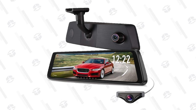 Auto-Vox X1-Pro Dual Recording Rear-View Mirror Dash Cam | $240 | Amazon | Clip the $17 coupon and use code 5P24KYWL