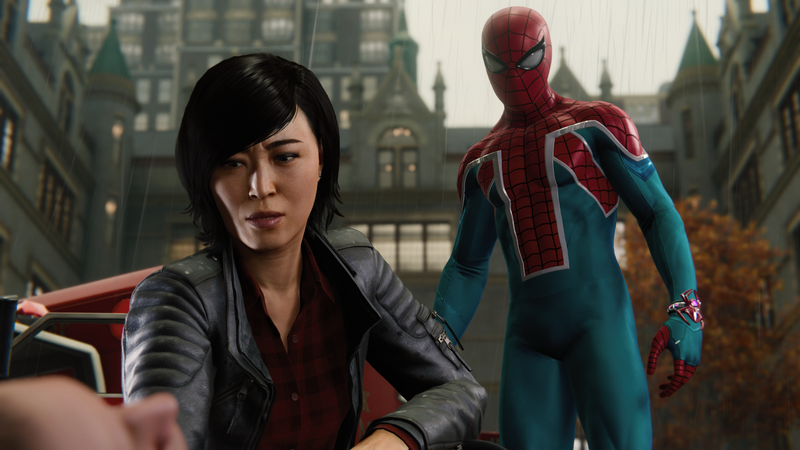 Spider-Man and Yuri Watanabe find themselves at odds in Turf Wars. Also, hell yeah, you bet I'm still rocking that Spider-UK suit.
