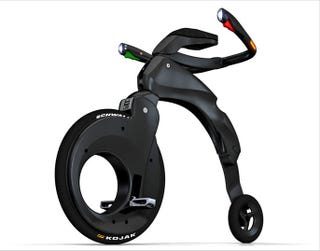 Illustration for article titled YikeBike: Foldable, Carbon Fiber Bike Is Sleek, Useful 21st Century High Wheeler