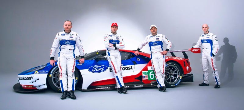 Illustration for article titled Here Are The Magnificent Lunatics Who Will Pilot The New Ford GT At Le Mans