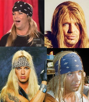 Illustration for article titled 20 Years Of Bret Michaels' Hair