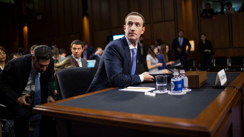 Facebook co-founder, Chairman and CEO Mark Zuckerberg testifies before a combined Senate Judiciary and Commerce committee hearing in the Hart Senate Office Building on Capitol Hill April 10, 2018 in Washington, DC