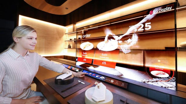 LG s Envisioning Futuristic Sushi Bars With Transparent OLEDs