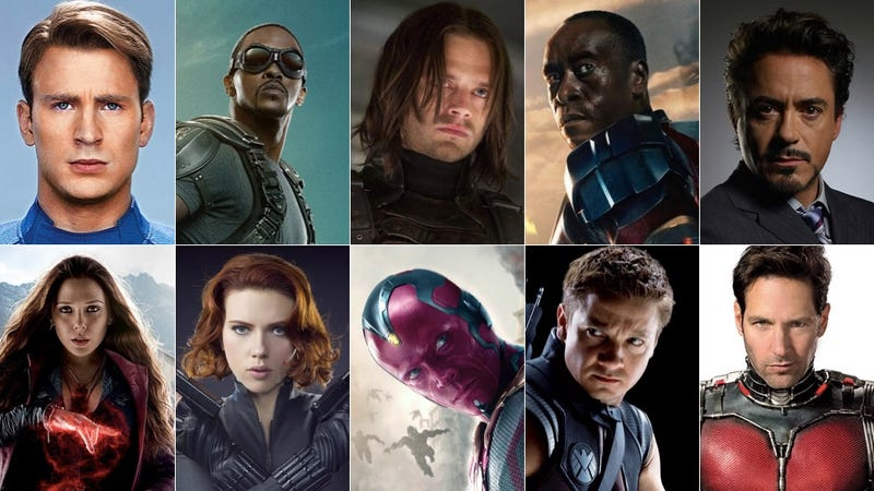 Illustration for article titled The Entire Marvel Cinematic Universe Has Been Cast In Civil War