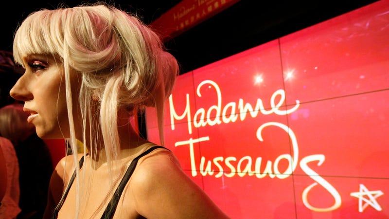 Lady Gaga at Madame Tussauds Shanghai location. Image via AP.