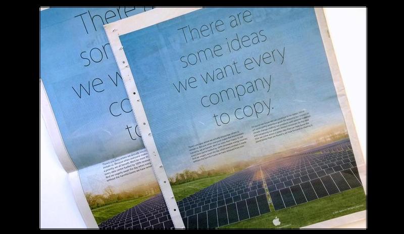 Illustration for article titled Bofetada de Apple a Samsung en anuncios a toda página