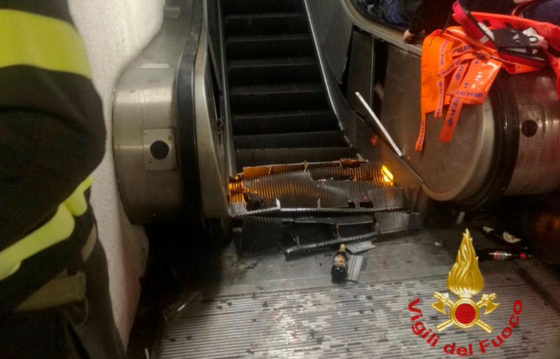 Illustration for article titled Escalator Malfunction Leaves At Least 20 Injured in Rome