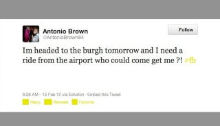 Illustration for article titled Won't Someone In Pittsburgh Give Antonio Brown A Ride From The Airport Tomorrow?