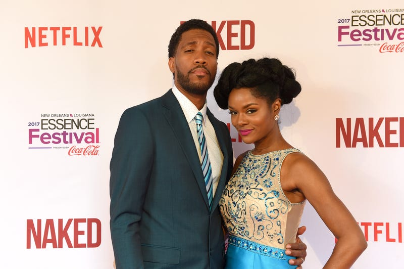 J.T. Jackson and guest attend the premiere of Netflix film Naked at the 2017 Essence Festival in New Orleans June 30, 2017.