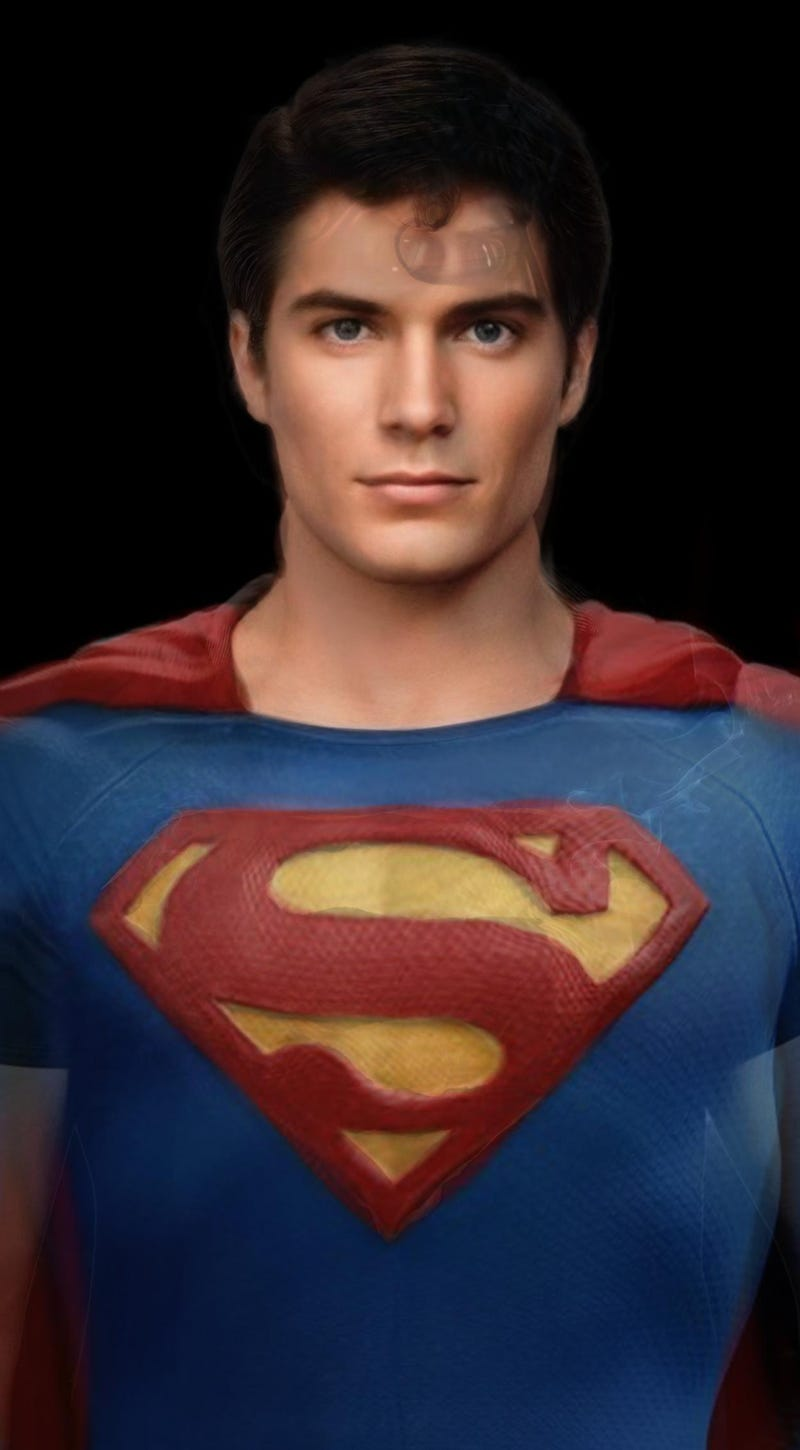 Illustration for article titled Composite picture of every Superman (unsurprisingly) has a sick chin