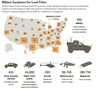 Illustration for article titled American Police Militarization, Visualized