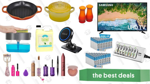 Saturday s Best Deals: Tarte Cosmetics Sale, Samsung 50-Inch 4K Smart TV, Le Creuset Stoneware, Rechargeable Batteries, Dishwashing Supplies, and More