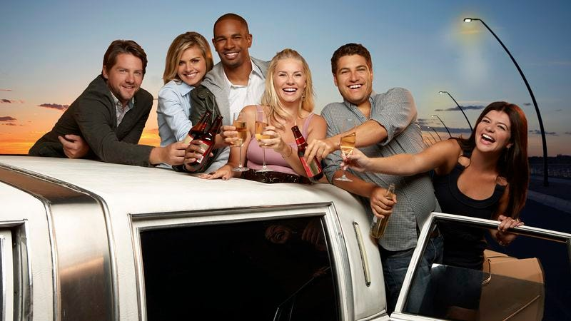 The Happy Endings gang