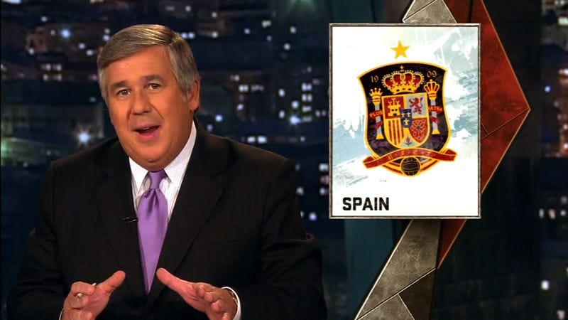 Illustration for article titled Frustrated Bob Ley Tasked With Explaining Concept Of Europe To ESPN Viewers