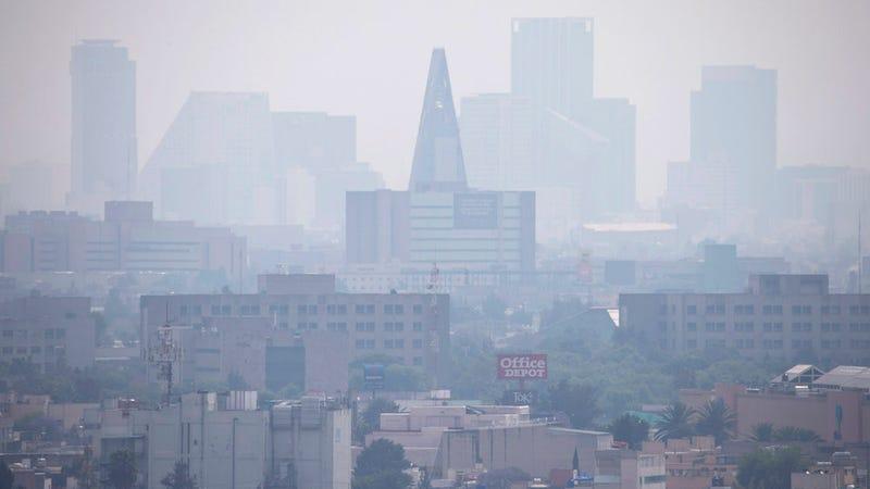 A smoggy Mexico City skyline. AP Photo/Rebecca Blackwell