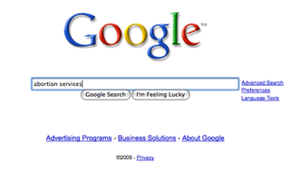 Illustration for article titled Google Blocks Abortion Ads On Multiple Continents
