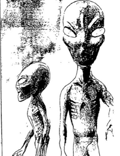 Illustration for article titled The best of New Zealand's UFO files: Alien writing, masks and ships